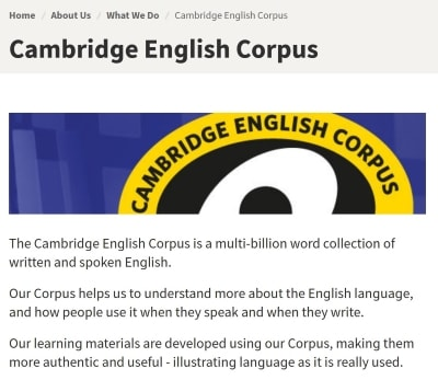 Cambridge English Corpus