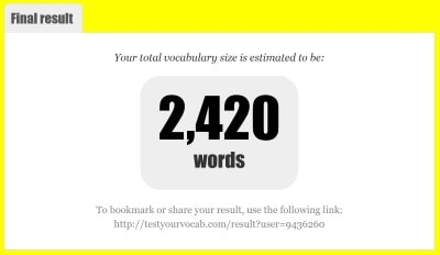 Test You Vocab計測手順 結果