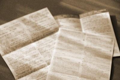 契約関連の書類