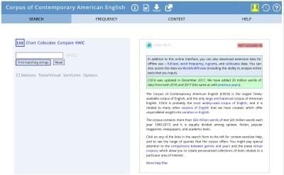 米国の現代英語コーパス
