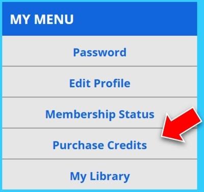 ① Credit購入画面を表示